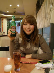 海野さんの持ってるビールは、自分(竹内)のです