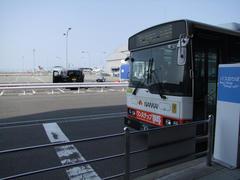 空き時間を利用して、バスで関西空港の展望台へ…