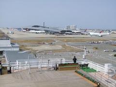 スカイビューから関西空港ターミナルを望む