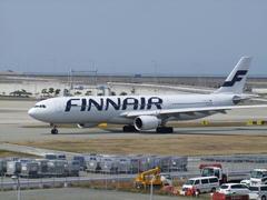 ヘルシンキ行きのフィンランド航空です
