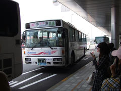 小倉駅まで、バスで移動