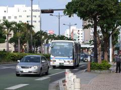 ホテル前の、松山付近にてです