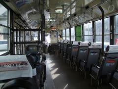 バスは、基本的にはガラガラ…