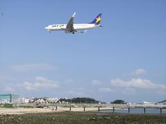 瀬長島より撮影…飛行機が近い!