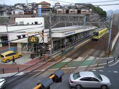沿線の中では大きな駅とも言える、通谷駅