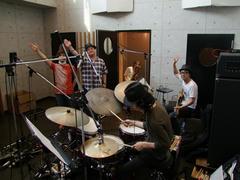 最終日のレコーディング、演奏直前!