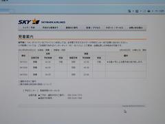 19日の那覇~羽田間のスカイマークの状況