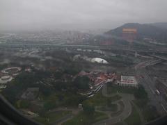 雨の中の台北に着陸していきます!