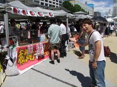 錦糸公園に出向き、食料をゲット!