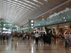 ウッドベースを預けに…羽田空港第2ターミナルにて