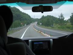 高速道路で、一路札幌へ!