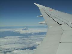 富士山が見えてくると、羽田まであともう少し!