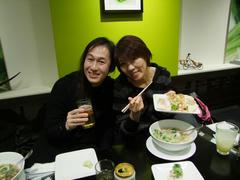 本番前に、鹿嶋さんと由美さんとで腹ごしらえ♪