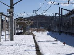 軽井沢駅の高崎側…行き止まりとなっています