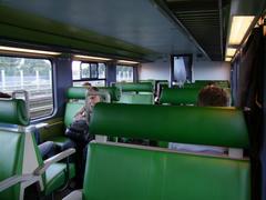 鉄道の車内