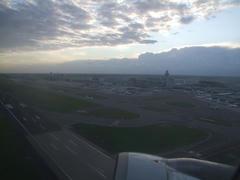 スキポール空港を離陸します!