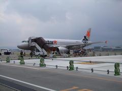 福岡空港も、やはりタラップで降機