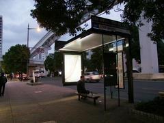 お店の最寄りのバス停(と思われる)三萩野停留所