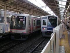和光市駅にて…ここは東武鉄道の駅なのです