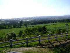 高層道路の有珠SAから見た伊達市の風景