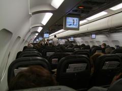 スイスエアーのA321の機内