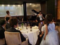 マリンバとピアノの演奏