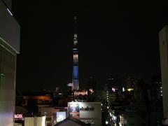 お店から眺められる東京スカイツリー
