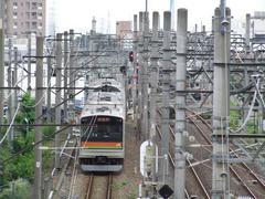川越駅を出発後、JR川越線と並走…川越市駅も微かに見えます