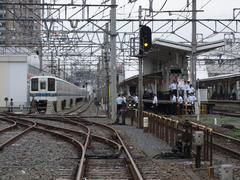 川越市駅構内には、留置線も設置されています