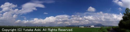 対流雲の列