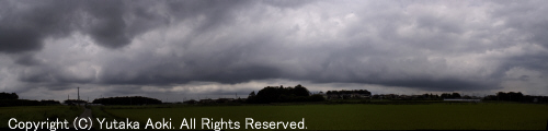 アーチ雲パノラマ
