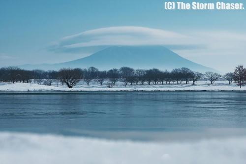 筑波山と笠雲