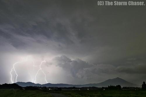 筑波山と雷