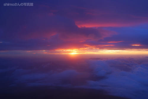 富士山からの夜明けその1