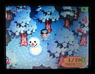 よね村は雪化粧