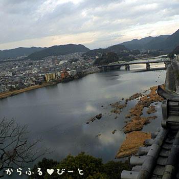 天守閣から見下ろす木曽川