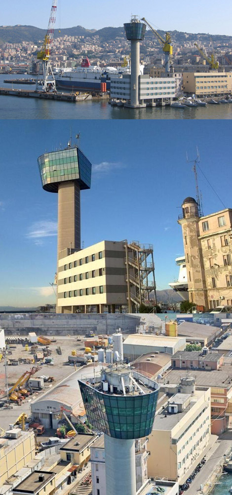 ジェノバ港・管制塔