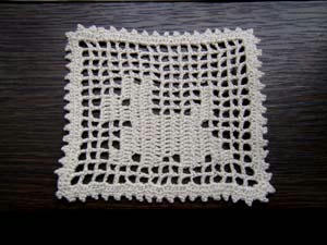 方眼編みわんこ