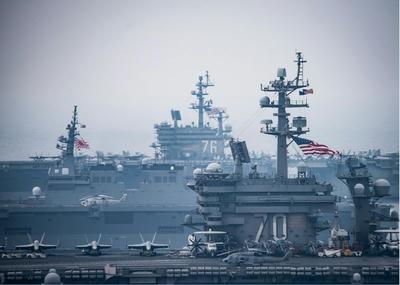 日米共同訓練,オスプレイ,演習,空母,海自,米海軍,東シナ海,カールビンソン,ロナルドレーガン,米第7艦隊,いづも,護衛艦,日本,米国