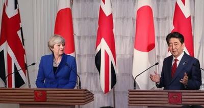 メイ首相,安倍首相,日本,英国,イギリス,共同訓練,日本,アジア,太平洋,EU,離脱,中国,領海,防衛,軍事,経済