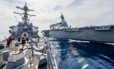 海自,ISEDA18,すずつき,いなづま,かが,インド太平洋方面派遣訓練,南シナ海,防衛,米海軍 ,軍事,海軍,戦艦 ,乗り物,艦船 ,