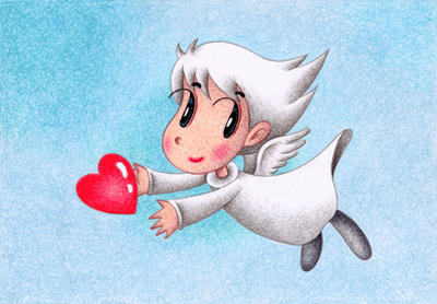 Cute angel Illustration, Images and Pictures - 「Heart」