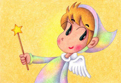 Cute angel Illustration, Images and Pictures - 「Brilliant star baton」