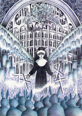 Imagination Illustration, Images and Pictures - 「Cat angel in church」
