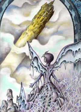 Imagination Illustration, Images and Pictures - 「Statue that watches tower」