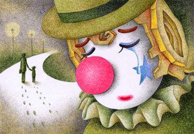 Romantic pierrot Illustration, Images and Pictures - 「Day when goodbye was said」