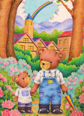 Animal Illustration, Images and Pictures - 「Bear's parent and child」