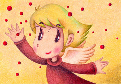 Cute angel Illustration, Images and Pictures - 「It is very cheerful」