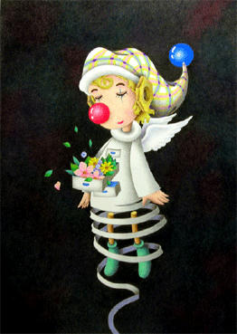 Romantic pierrot Illustration, Images and Pictures - 「Clown in silence」