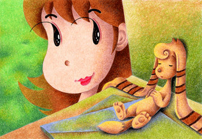 Lovely fairy Illustration, Images and Pictures - 「Fairy with muffler ear」